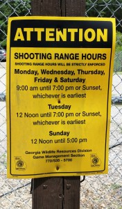 DNR Firearm Range at Wilson Shoals WMA ~~ Photograph by Robert Sutherland