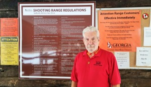 Senior Range Safety Officer Mike Thompson at DNR Firearm Range at Wilson Shoals WMA ~~ Photograph by Robert Sutherland
