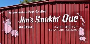 Jim's Smokin' Que near Blairsville, GA ~~ Photograph by Robert Sutherland