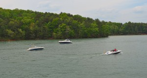 Boating on Lake Lanier ~~ Photograph by Robert Sutherland