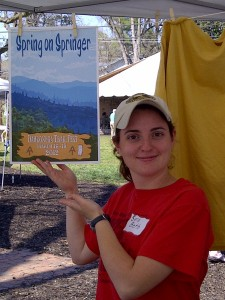 The Lovely & Talented Sara Beth at Trail Fest 2012. ~~ Photograph by Robert Sutherland