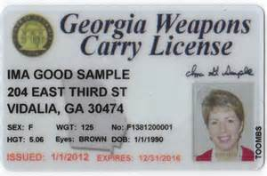 Sample Georgia Weapons Carry License from www.whitfieldcountyga.com