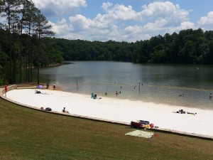 The sandy white beach at Don Carter State Park ~~ Photograph by Robert Sutherland