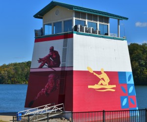 The Timing Tower at the Olympic Venue on Lake Lanier ~~ Photograph by Robert Sutherland