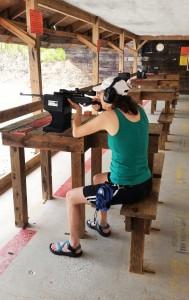 Marianna Jarrett of Sugar Hill, GA at DNR Firearm Range at Wilson Shoals WMA ~~ Photograph by Robert Sutherland