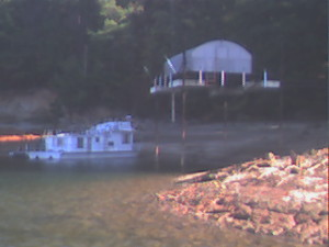 When Lake Lanier water levels were low, boats were high and dry. ~~ Photograph by Robert Sutherland
